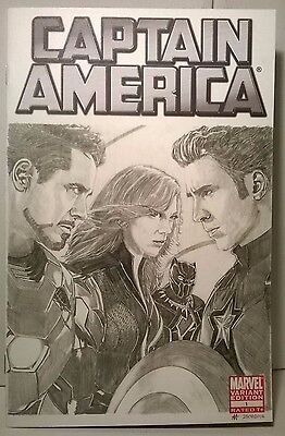 Captain America #1 Sep 2011, Blank , Sketched Cover , Civil War