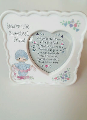 Precious Moments Frame and Poem, You're The Sweetest Friend, Love, Hearts