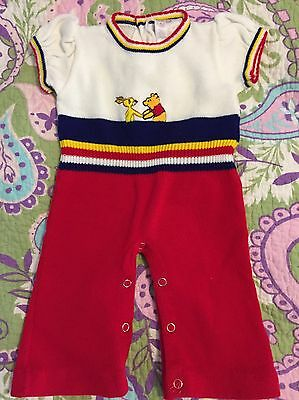 VINTAGE SEARS WINNIE THE POOH One Piece Romper 6 Mo  Perfect Cond
