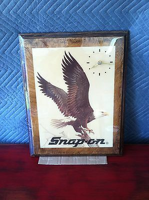 Snap On Tool Vintage man cave/shop Eagle Clock Collectible