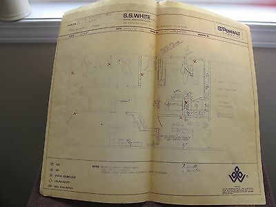 Vintage 1972 Building Blueprints for Dentist Office in California -Pennwalt Corp