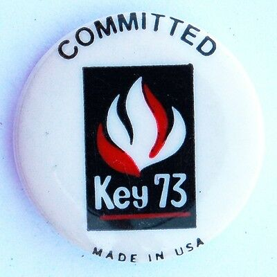 1973 Salvation Army Growth Campaign Key 73 Pin
