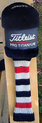 Titleist ProTitanium 975 J-VS Driver Head Cover  - Long Sock - Very Good Cond