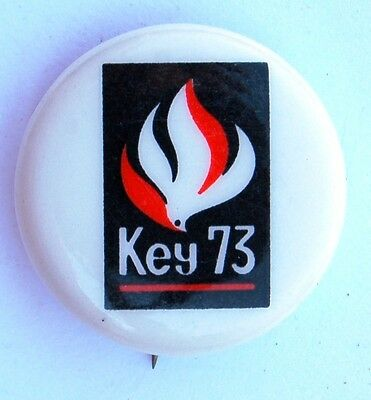 1973 Salvation Army Growth Campaign Key 73 Small  Pin
