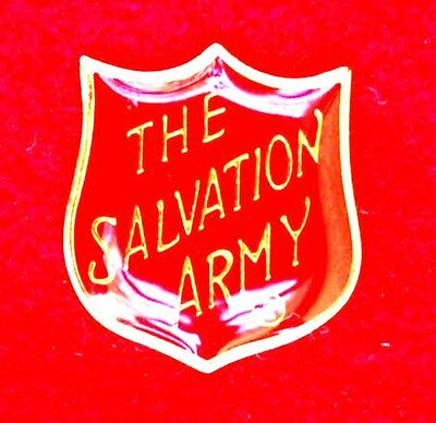Salvation Army Large Red Shield Pin