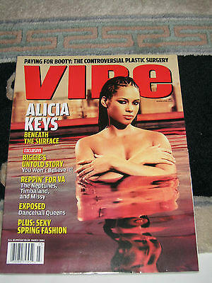 Alicia Keys Vibe Magazine 100% Mint Condition Topless Nude 20041
