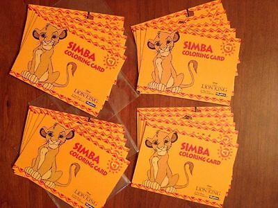 Disney Collector Cards - Coloring Cards Lion King-FOUR Sets-C1,2,3,4,5-Sky Box