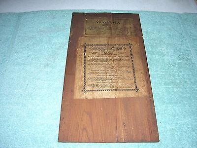 Antique Waterbury Niagara Gingerbread Clock Wooden Back Plate & Labels