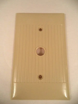 Sierra ivory vtg mcm ribbed line telephone cable dimmer switch plate cover