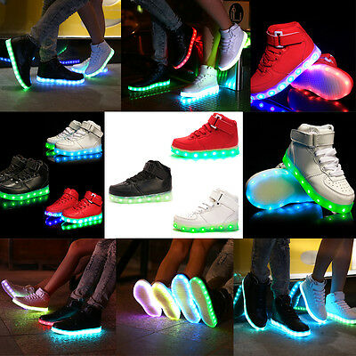 Kids Girls Boys Light Up Shoes Glow in The Dark Shoes LED Flashing Sneakers Size