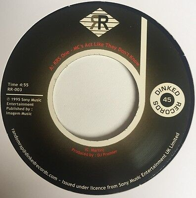 """Krs One """" Mc's Act Like They Don't Know """" Uk 7"""" Re-Issue Hip Hop Rap"""