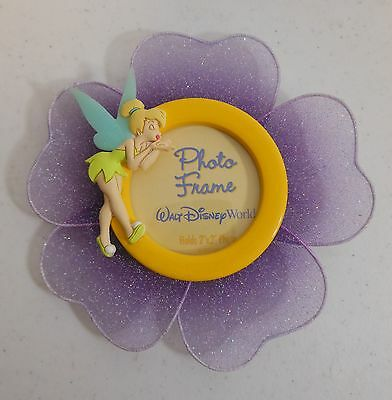 '03 Walt Disney World TINKER BELL BLOWING KISS Flower Picture Photo Frame Magnet
