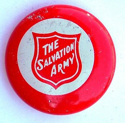 Salvation Army Old Round Lapel Pin