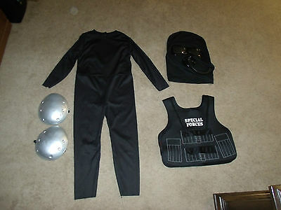 Special Forces 5-Piece Boy's Size M Black Halloween Costume