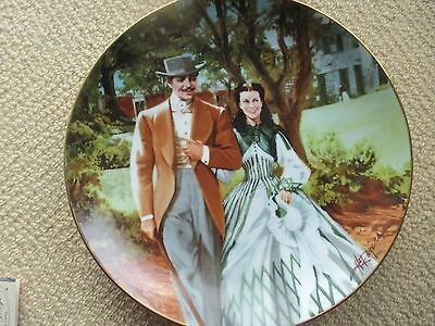 """1989 GONE WITH THE WIND WS GEORGE Ltd Ed COLLECTOR PLATE """"HOME TO TARA"""" MIB"""