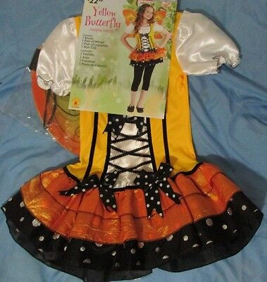Yellow Monarch Butterfly Or Candy Corn Skirt Dress Up Halloween Costume M 8 9 10