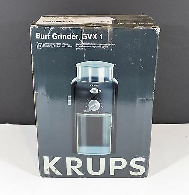 Krups GVX1 Coffee Bean Burr Grinder w/ Grid Size & Cup Selection Used Once