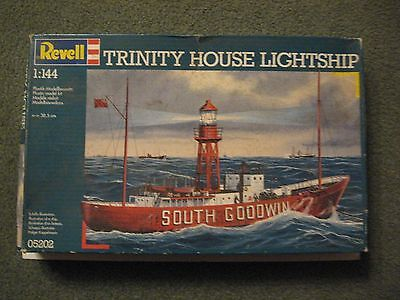 Revell 1/144 Scale Trinity House Lightship--No Decals