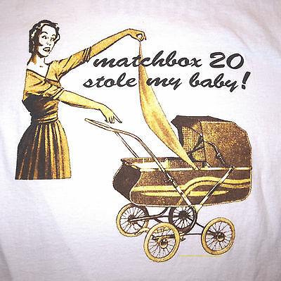 1997 Matchbox 20 Stole My Baby Concert T-Shirt Tee White Background Size Large