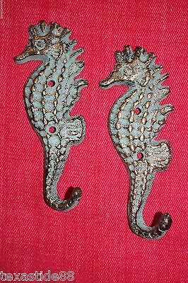(2) Bronze Look, Seahorse, Wall Hooks, Daughter,gift, Christmas Gift, Woman N-25