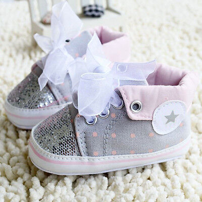 Lovely Sneaker Newborn Baby Crib Shoes Boys Girls Infant Toddler Soft Sole Boots