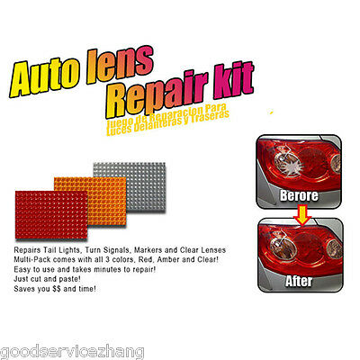 Car Auto Lens Repair Tool Kit 3 Colors Multi-Pack Quick Fix Cracked Broken Tool