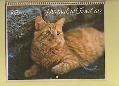 Purina Cat Chow Cats And Adorable Kittens Too 1976  Calendar Great For Framing