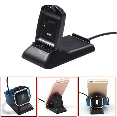 2 in 1 Charging Cradle Dock Charger & Phone Holder for Fitbit Blaze Smart Watch