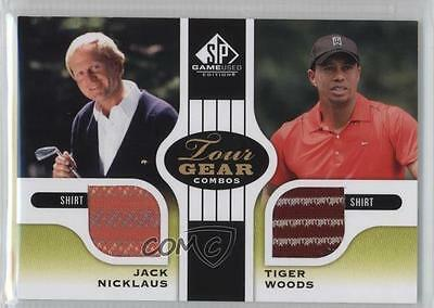 2012 SP Game Used Edition #TG2-NW Jack Nicklaus Tiger Woods Golf Card 2e1
