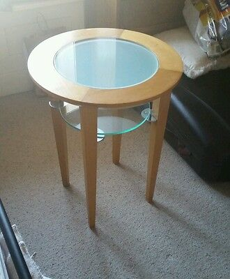 SIDE TABLE / BESIDE TABLE – ROUND frosted GLASS TOP