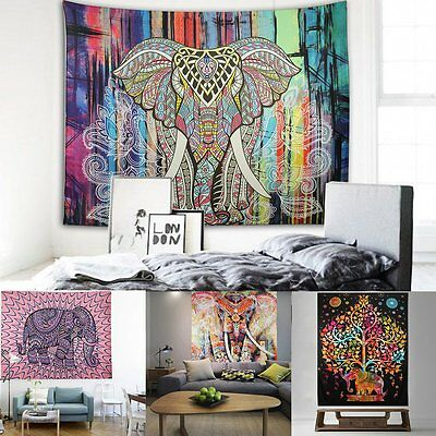 Indian Mandala Tapestry Wall Hanging Hippie Bohemian Twin Bedspread Home Decor