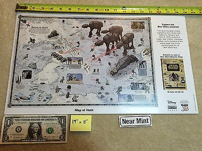 "Map of Hoth Star Wars 19"" x 11"" Poster 2016 NYCC Galactic Maps"