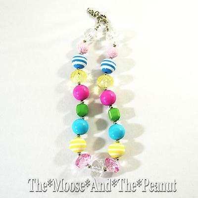 Custom Resell Chunky Rainbow Stripe Toddler Necklace