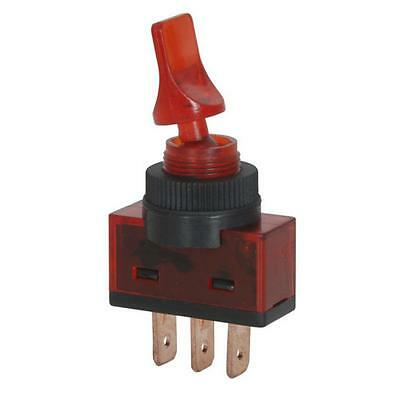 12VDC 10A SPST Illuminated Toggle Switch RED ST0580