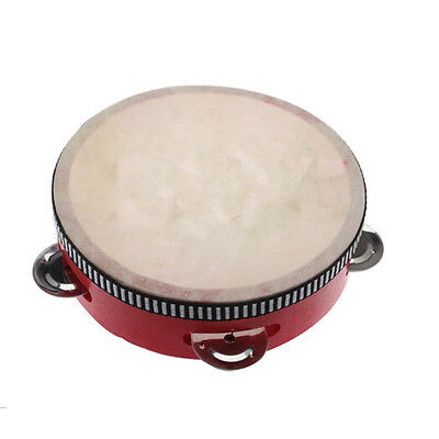 Hand Held Tambourine Drum Bell Metal Wooden Percussion Musical Instrument Toy