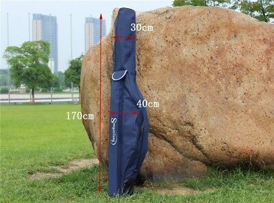 Travel Fishing Rod Tackle Bag Folding Soft Material Fishing Pole Case Bags Blue