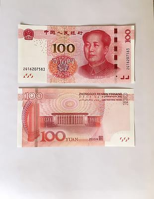 2015 China 100 Yuan Mao Hall Of The People Chinese Currency Rmb Money Note