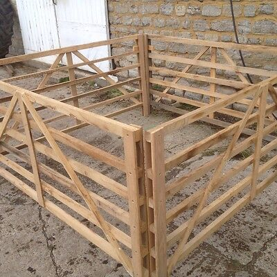 Solid oak  wooden sheep/goat/ calf hurdles made with screws