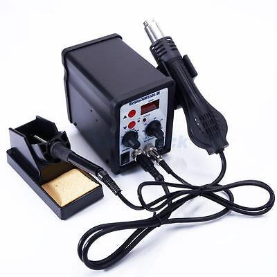 8586 2in1 230V Electric SMD Rework Hot Air Soldering Iron Station Kit Stand Tips