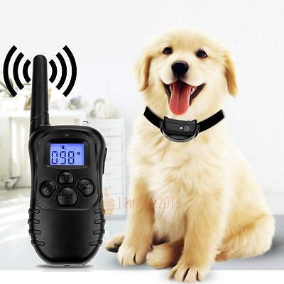 Electric Shock Dog Collar Training Remote Controller Anti-Bark Rechargeable UK