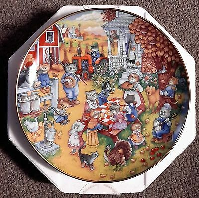 """Franklin Mint Plate  """"a Purrfect Feast""""  Limited Edition"""