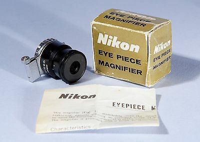 Nikon Eye Piece Magnifier 2x for F Series SLR 35mm Camera...Boxed...Mint...
