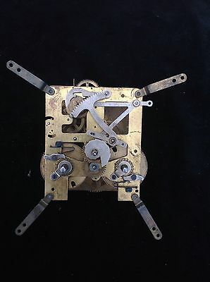 German 14 Day Clock Mechanism For Parts Or Repair