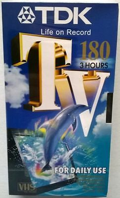 TDK TV180 VHS PAL VIDEO TAPES x 5  FACTORY SEALED brand new