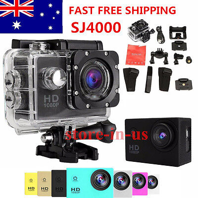 WIFI LCD SJ4000 A7 HD 720P Waterproof Sports Action DV Video Camera Camcorder AU