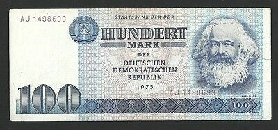 Germany, Ddr 100 Mark 1975  Pick # 31 Circulated  Banknote