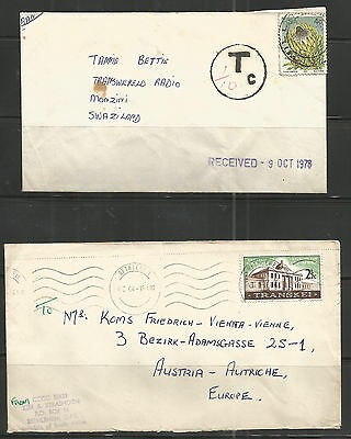 RSA Commercial Covers 1964 Transkei - Bethlehem Cancel + Tax Cover to Swaziland