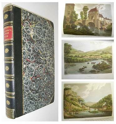 1797 1st PICTURESQUE VIEWS on THE RIVER WYE Fine HAND COLOURED PLATES Hereford