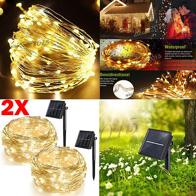 2X 72ft 200 LED Christmas Tree Fairy String Party Lights Lamp Xmas Waterproof