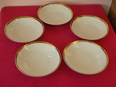 Thomas Germany Thick / Wide Gold Band - 5 x 19cm Dessert / Cereal / Soup Bowls